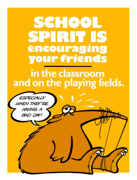 School Spirit is Encouraging Others