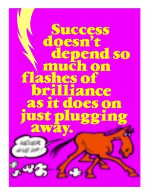 Success is Just Plugging Away