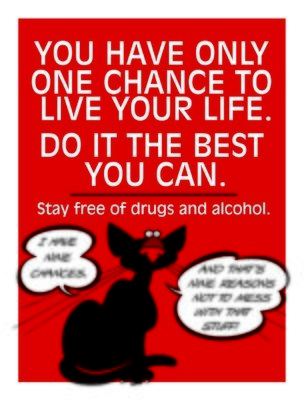 Live your life drug & alcohol free