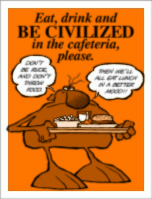 Eat drink & be civilized
