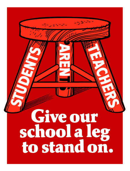Give our school a leg to stand on.