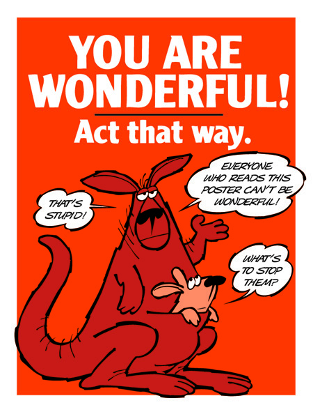 YOU ARE WONDERFUL! Act That Way.