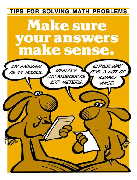 Make Sure Your Answers Make Sense