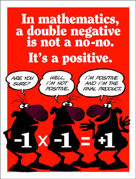 Negative Times Negative is Positive
