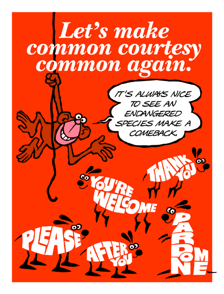 Let's Make Common Courtesy Common