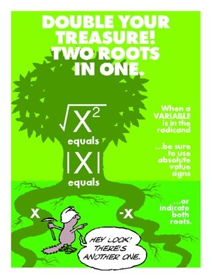 Two Roots for Squared Variables