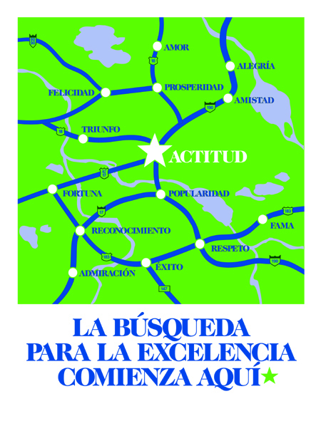 Excellence begins with attitude (Spanish)