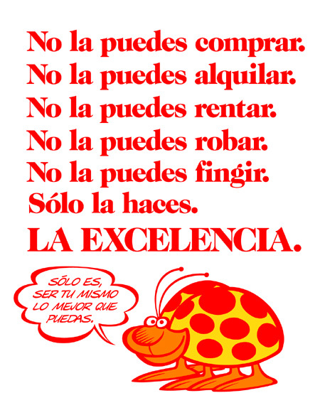 Excellence is being yourself the best you can (Spanish)