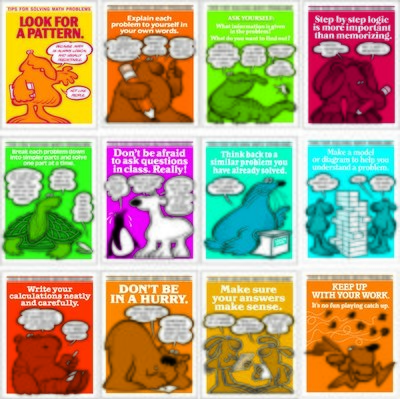Math Tips Poster Set (12)