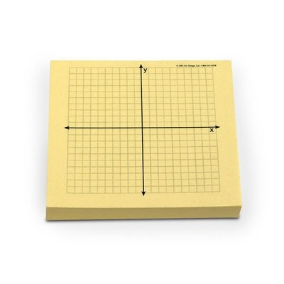 Graph-its! coordinate plane pads - pack of four 100-sheet pads