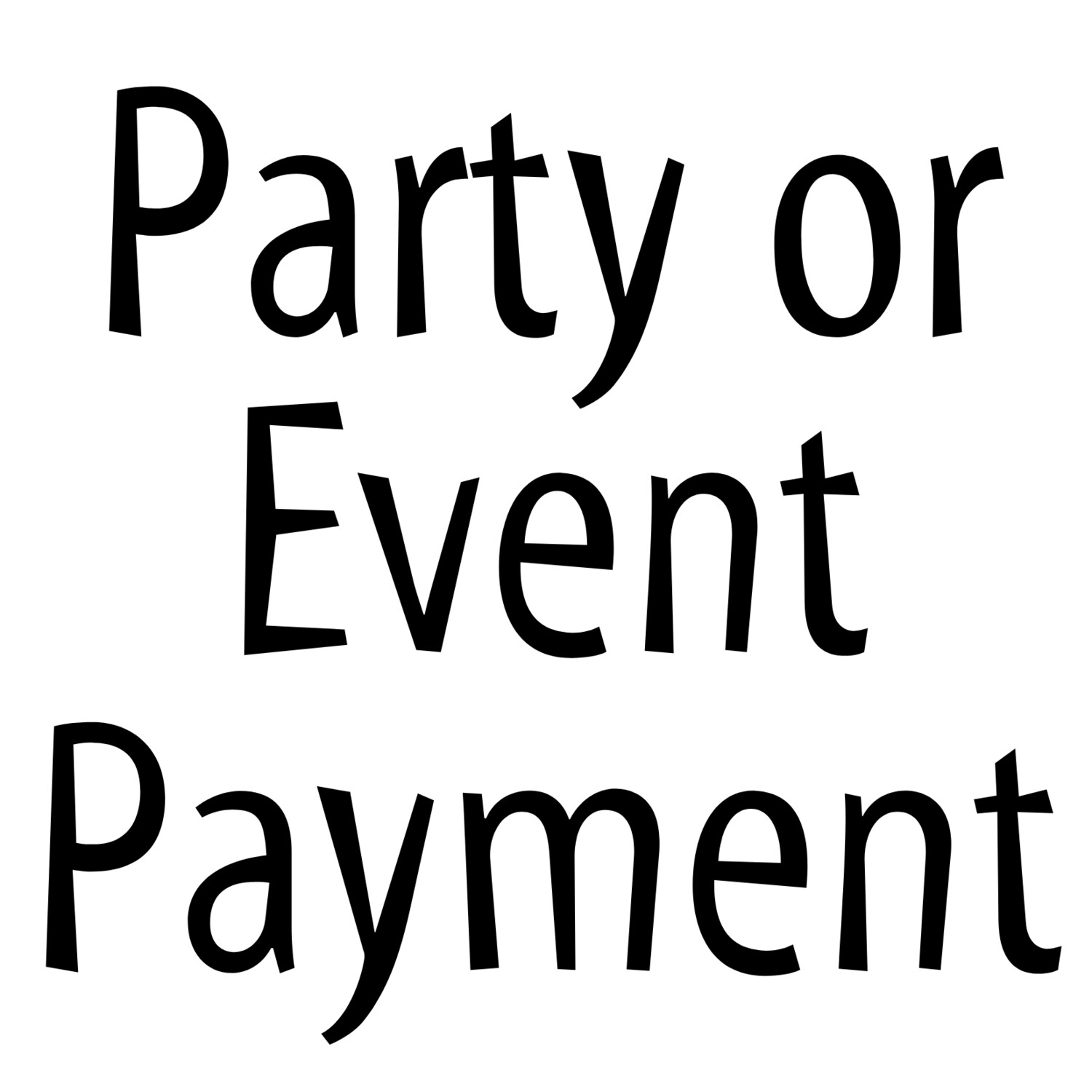 Party/Event Payment