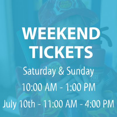 Weekend Admission Tickets (Saturday & Sunday)