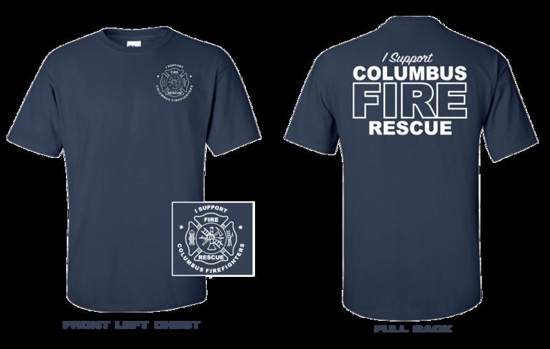 Columbus Firefighter Supporter Shirt