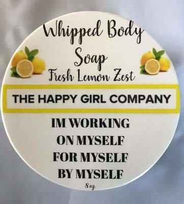 Fresh Lemon Zest Whipped Body Soap