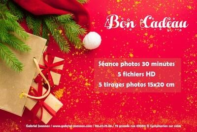 BON CADEAU séances photos 30 minutes