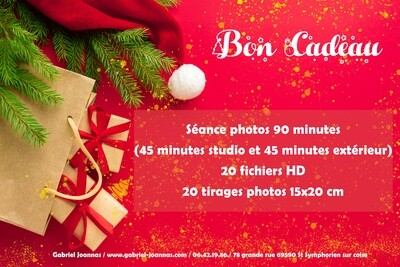 BON CADEAU séances photos 90 minutes