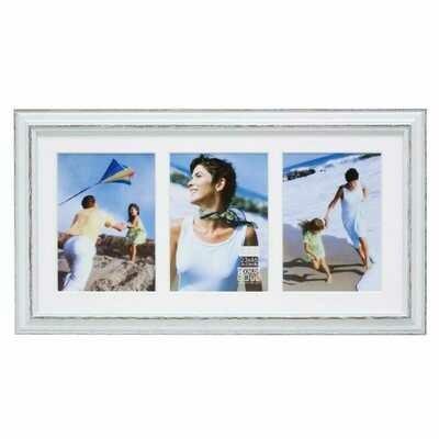 Cadre photo multivues S221F3 P3 / S221H3 P3 - Pour 3 photos - Avec passe-partout (bois)