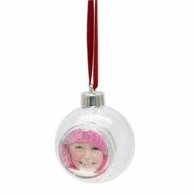Boule de Noël  transparente - Diamètre 8cm