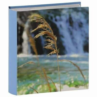 Album photo pochettes avec mémo FLORALINE - 150 pages blanches - 300 photos - Couverture Coloris aléatoire 25x22,5cm