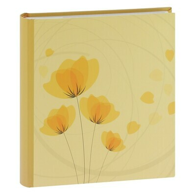 Album photo pochettes avec mémo ELLYPSE 2 - 100 pages blanches - 200 photos - Couverture Jaune 22,6x25cm
