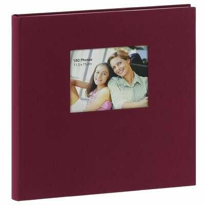 Album photo adhésif ERICA SQUARE - 60 pages blanches - 300 photos - Couverture Bordeaux 33x34cm + fenêtre