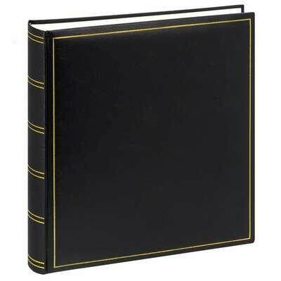 Album photo traditionnel CLASSIC - 100 pages blanches + feuillets cristal - 500 photos - Noir 32x29cm