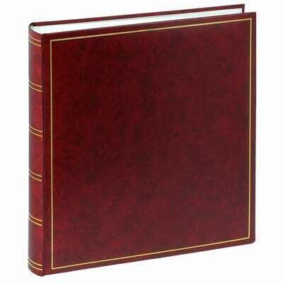 Album photo traditionnel CLASSIC - 100 pages blanches + feuillets cristal - 500 photos - Bordeau 32x29cm