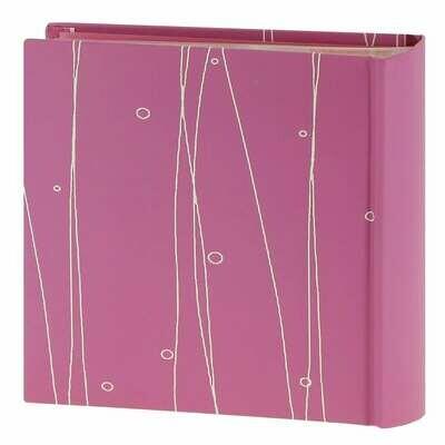 Album photo pochettes avec mémo ELLYPSE - 100 pages - 100 photos - Couverture rose 17,5x18,5cm