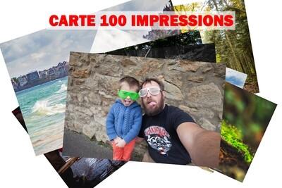 CARTE 100 IMPRESSIONS 10x15 cm