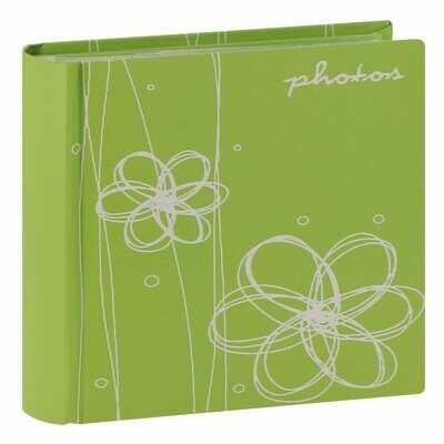 Album photo pochettes avec mémo ELLYPSE - 100 pages - 100 photos - Couverture Vert 17,5x18,5cm