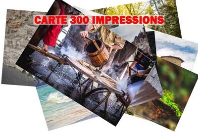 CARTE 300 IMPRESSIONS 10x15 cm