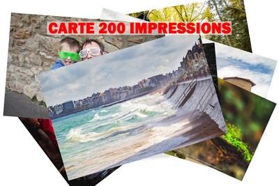 CARTE 200 IMPRESSIONS 10x15 cm