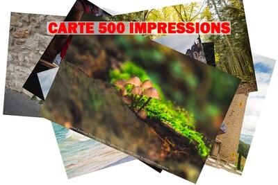 CARTE 500 IMPRESSIONS 10x15 cm