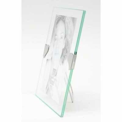 Cadre photo 13x18 cm - Verre avec cœurs argentés