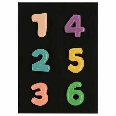 Magnet chiffres - Blister de 6