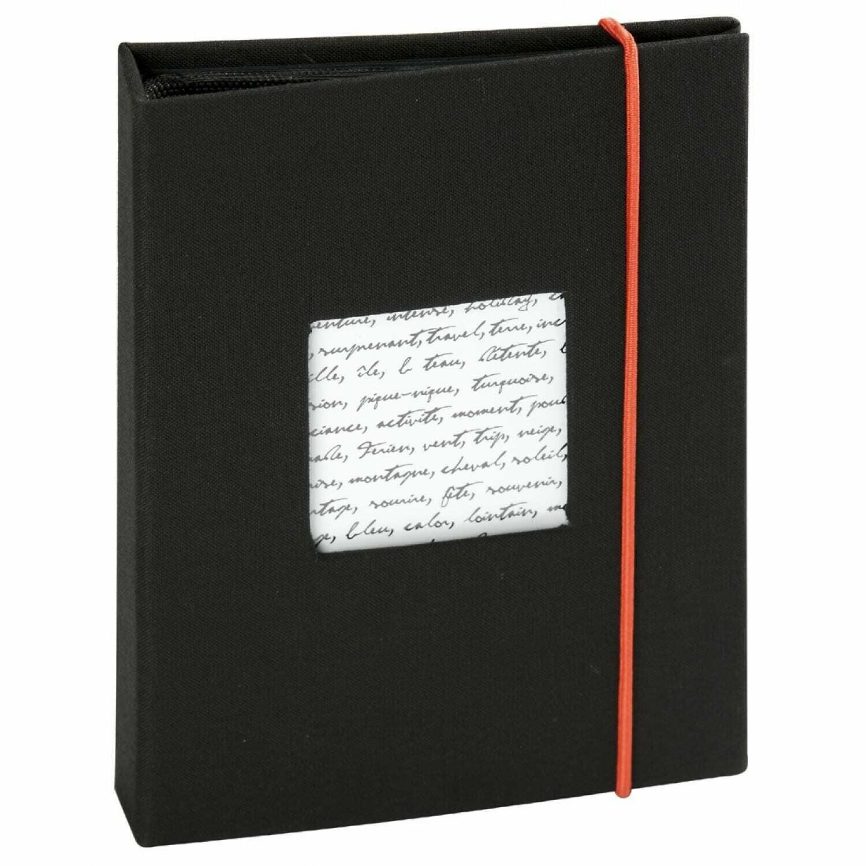 Mini album série LINEA 36 photos 10x15 - Pochettes Couverture personnalisable (Noir)
