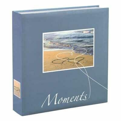 HAMA - Album photo pochettes avec mémo LIVORNO - 100 pages blanches - 200 photos - Couverture Bleue 22x22cm NOUVEAU Imprimer