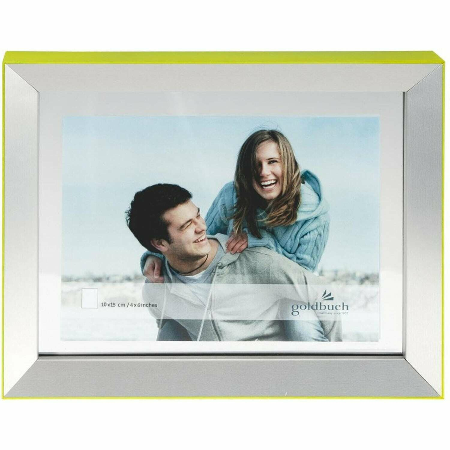 GOLDBUCH - Cadre photo Light double-face 10x15 cm GREEN