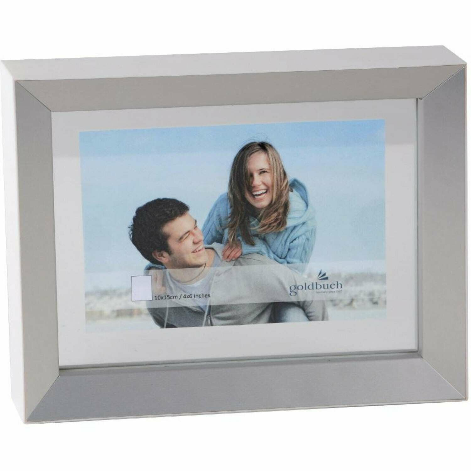 GOLDBUCH - Cadre photo Light double-face 10x15 cm WHITE