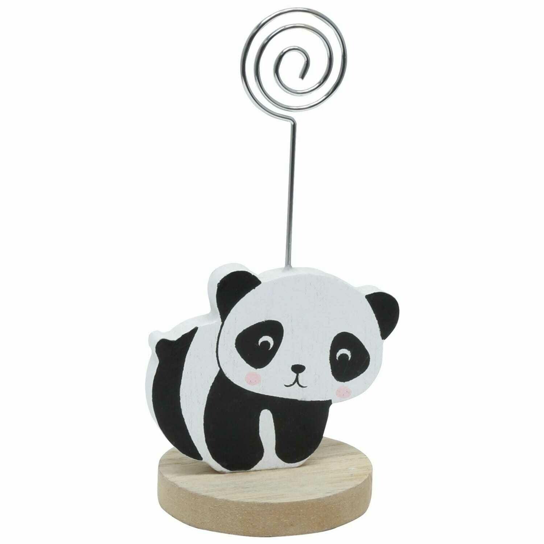 DEKNUDT - Porte-photo bois - pince avec panda 4 pattes