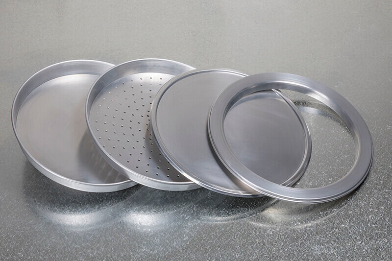 "10"" Aluminium Deep Pan Pizza Tray Perforated"
