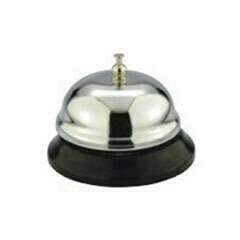 Reception Counter Bell Chrome