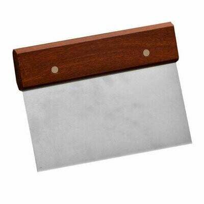 Dough Scraper Stainless Steel - Wood Handle