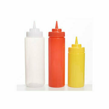 Plastic Squeeze Bottle 472ml Wide Mouth