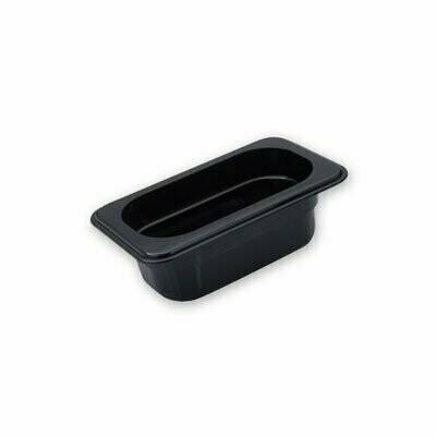 Polycarbonate Gastronorm Pan Black  1/9 x 100mm