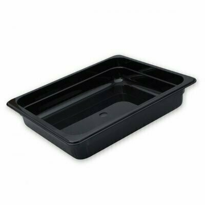 Polycarbonate Gastronorm Pan Black  1/2 x 200mm