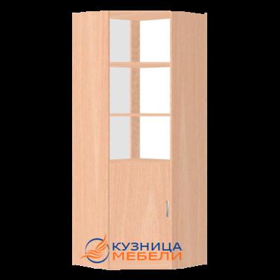 Стеллаж угловой из ДСП с высокой дверцей