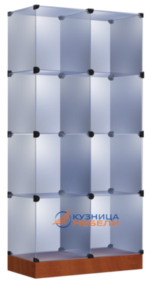 Стеклянный стеллаж-витрина
