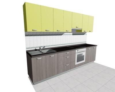 Кухня 3м (встроенная плита)