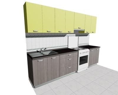 Кухня 3м (стационарная плита)